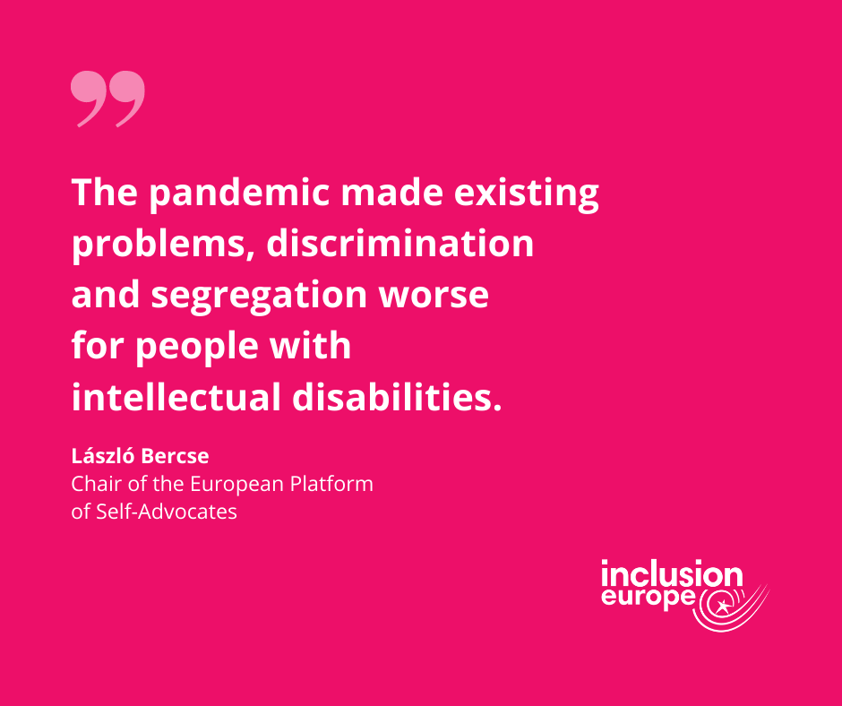 The pandemic made existing problems, discrimination and segregation worse
