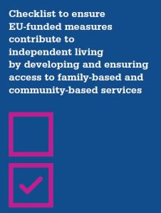 Checklist to ensure EU-funded measures contribute to independent living by developing and ensuring access to family-based and community-based services