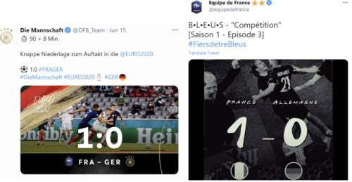 Tvíty německé a francouszké FA