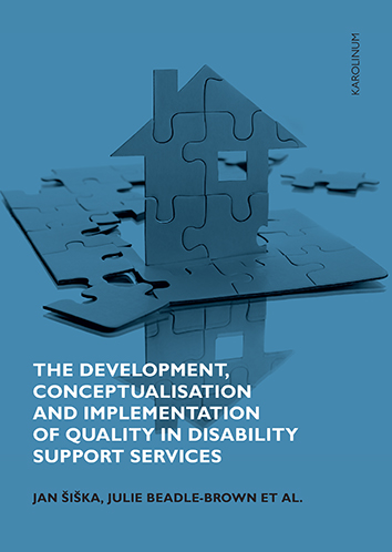 Book cover: he Development, Conceptualisation and Implementation of Quality in Disability Support Services